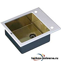 Кухонная мойка ZorG inox-glass 600x510 (GL-6051-white-bronze)